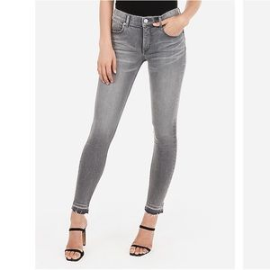 Mid Rise Grey Express Jeans Stretch Ankle Legging